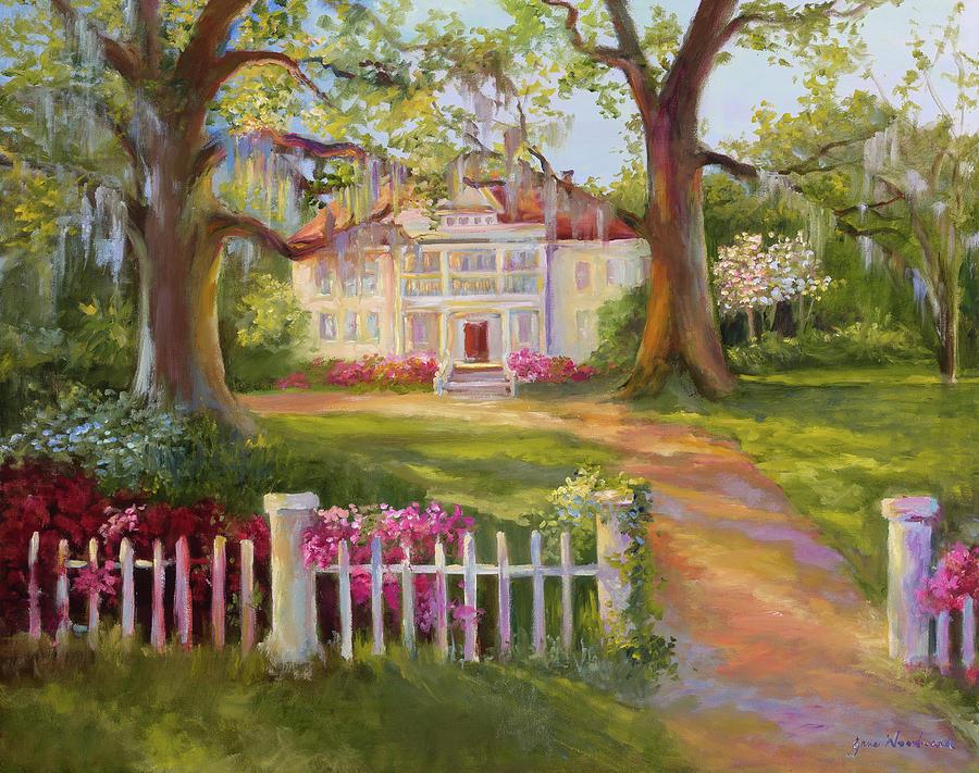 Jane Woodward Painting - Down Near Mcclellanville by Jane Woodward