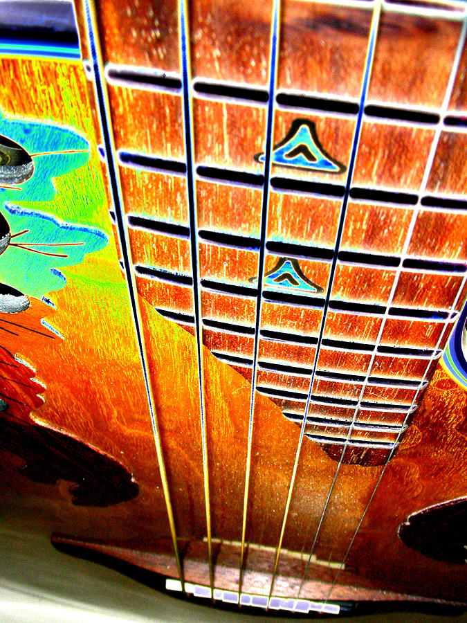 Guitar Digital Art - Down The Fingerboard by Peter  McIntosh