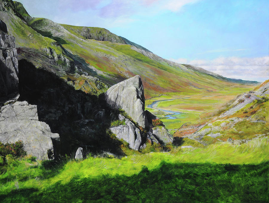 Landscape Painting - Down The Valley by Harry Robertson