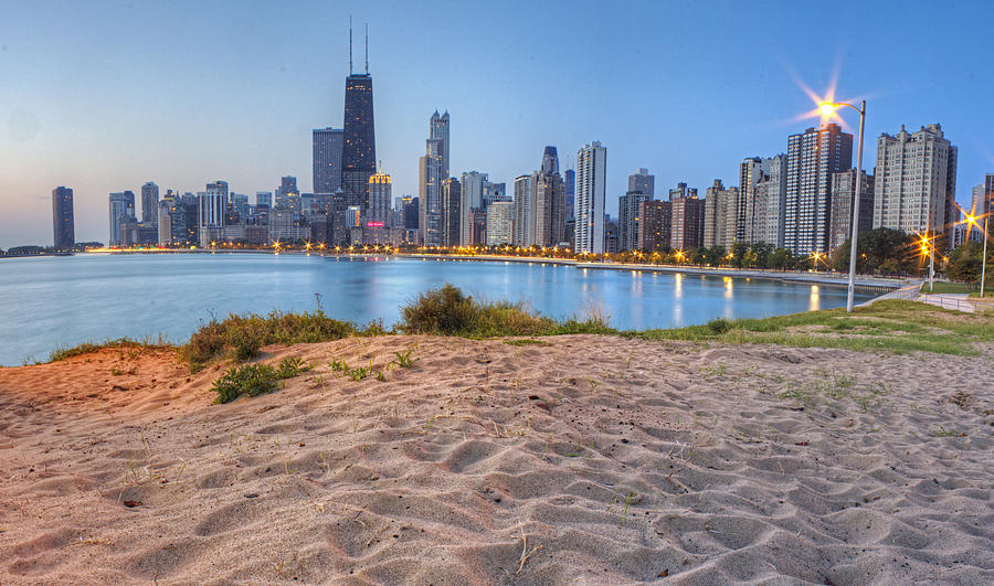 Chicago Photograph - Downtown Chicago From North Beach by Twenty Two North Photography