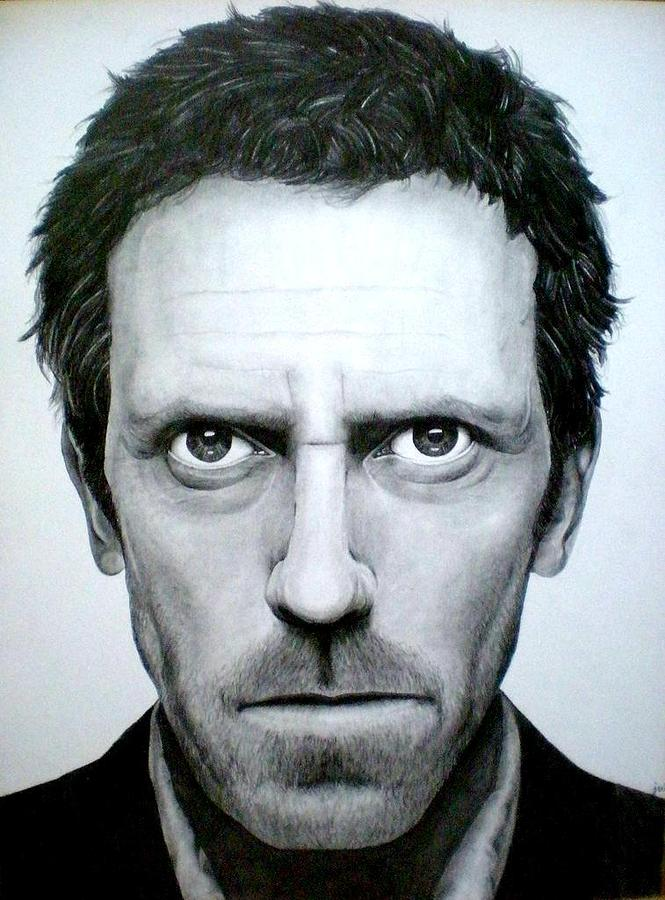 House Drawing - Dr. House by Jennifer Wartsky