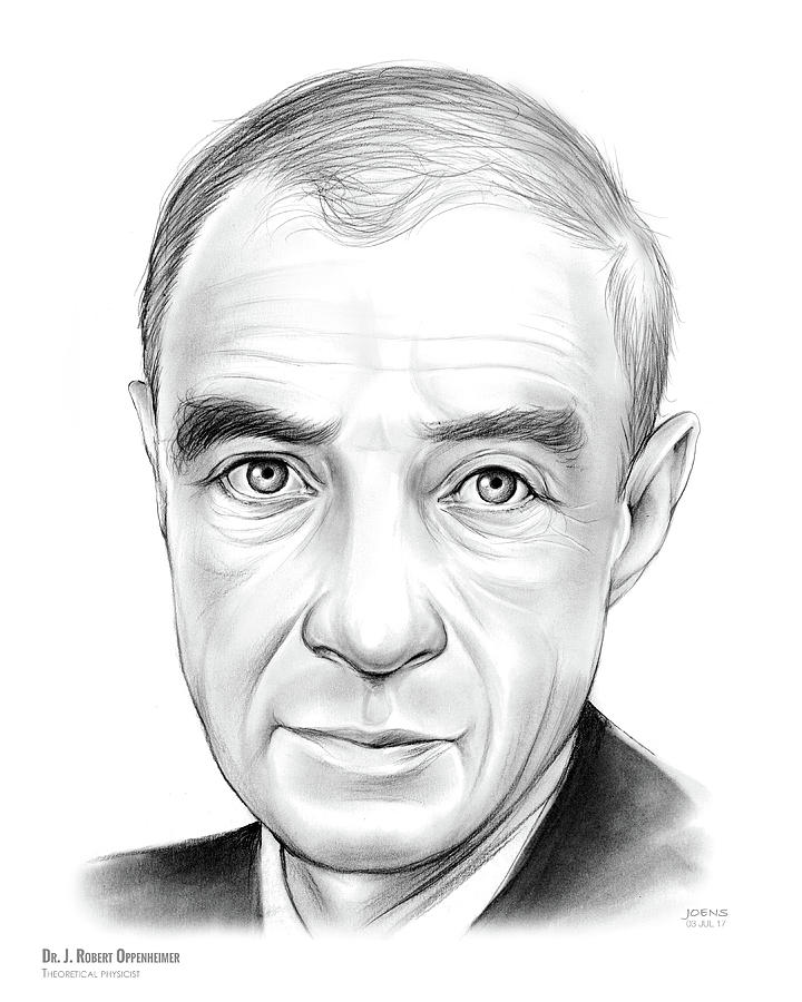 Dr. J. Robert Oppenheimer Drawing