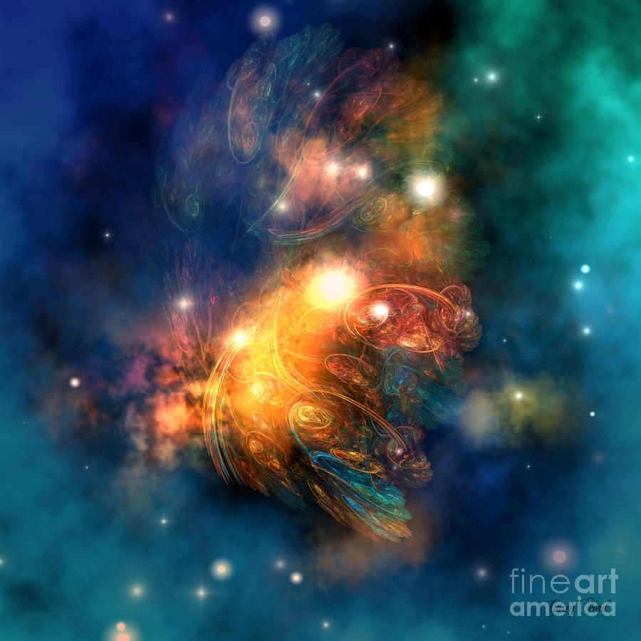 Dragon Painting - Draconian Nebula by Corey Ford