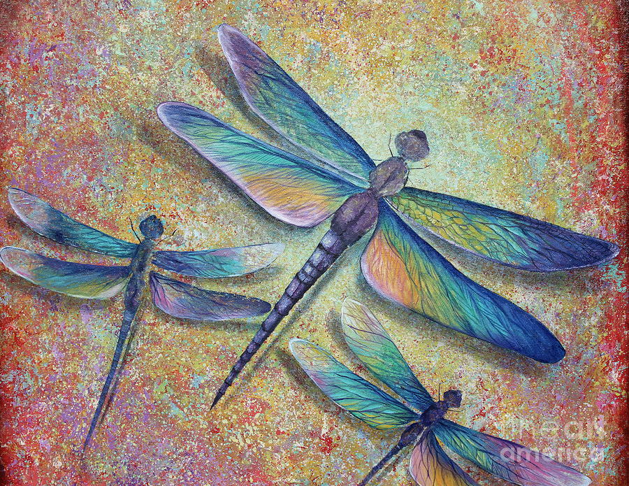 Dragonflies is a painting by Gabriela Valencia which was uploaded on ...
