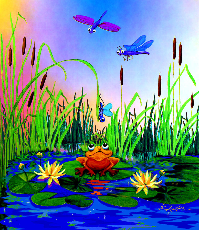 Preschool Wall Mural Painting - Dragonfly Pond by Hanne Lore Koehler