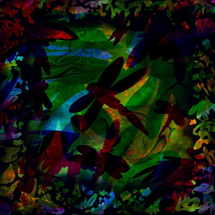 Abstract Digital Art - Dragonfly by Rachel Christine Nowicki