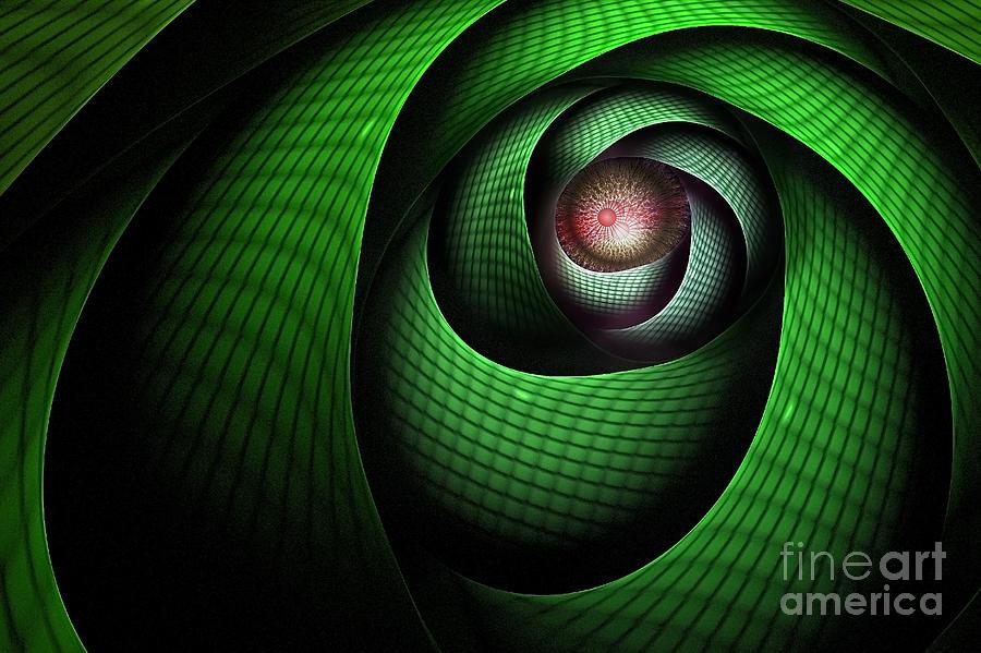 Dragon Digital Art - Dragons Eye by John Edwards