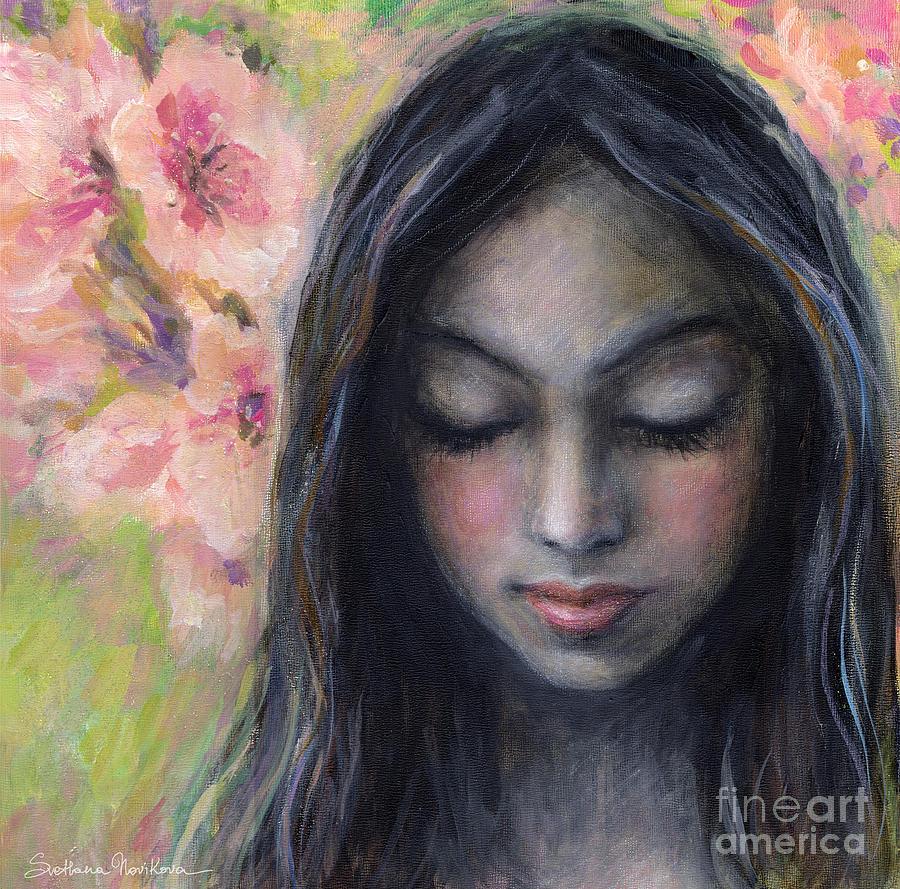 Woman Praying Painting - Drawing Near by Svetlana Novikova