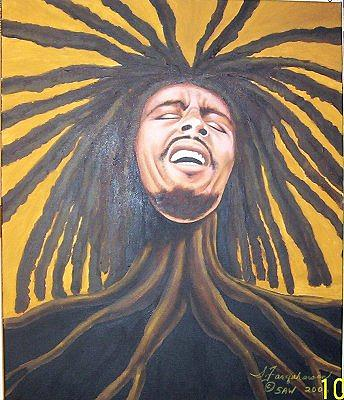Dreadlock Roots Painting by Sonia Farquharson