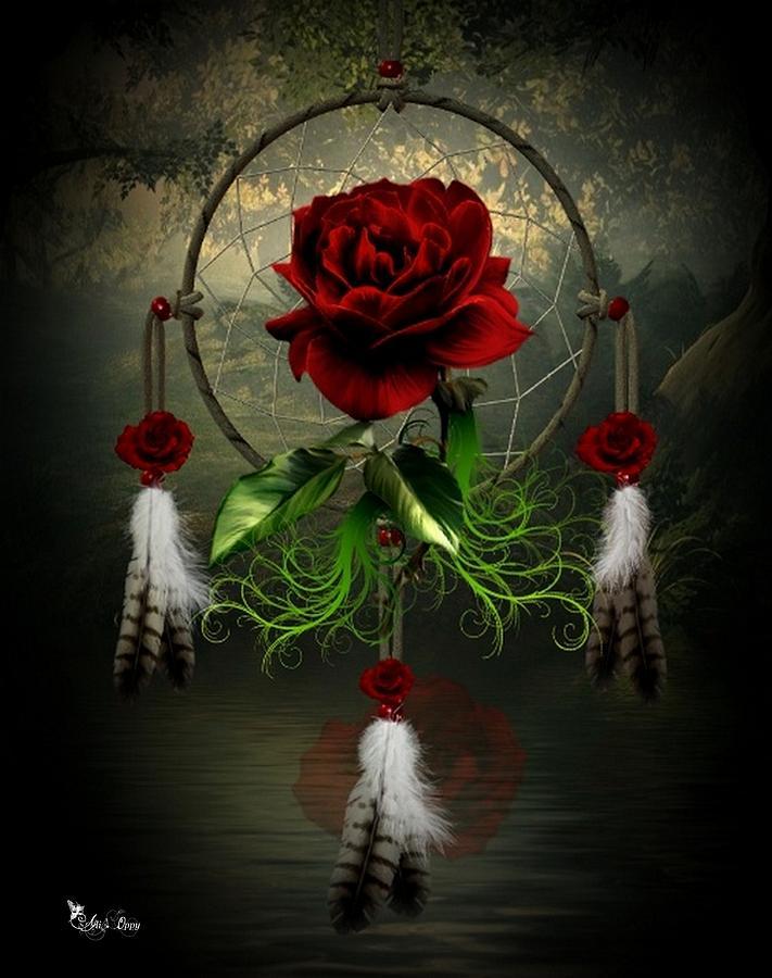 Dream Catcher Rose Digital Art By Ali Oppy