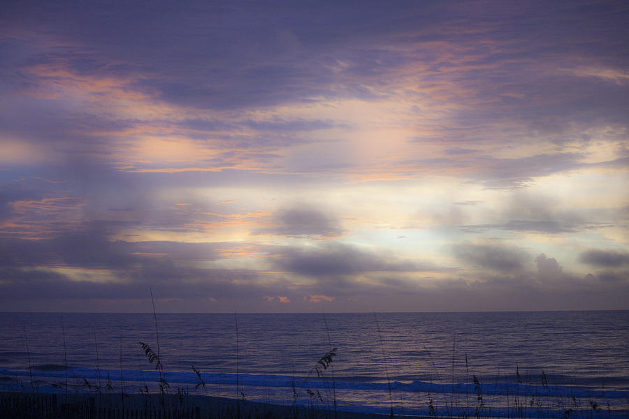 Sunrise Photograph - Dreamy Blue Atlantic Sunrise by Teresa Mucha