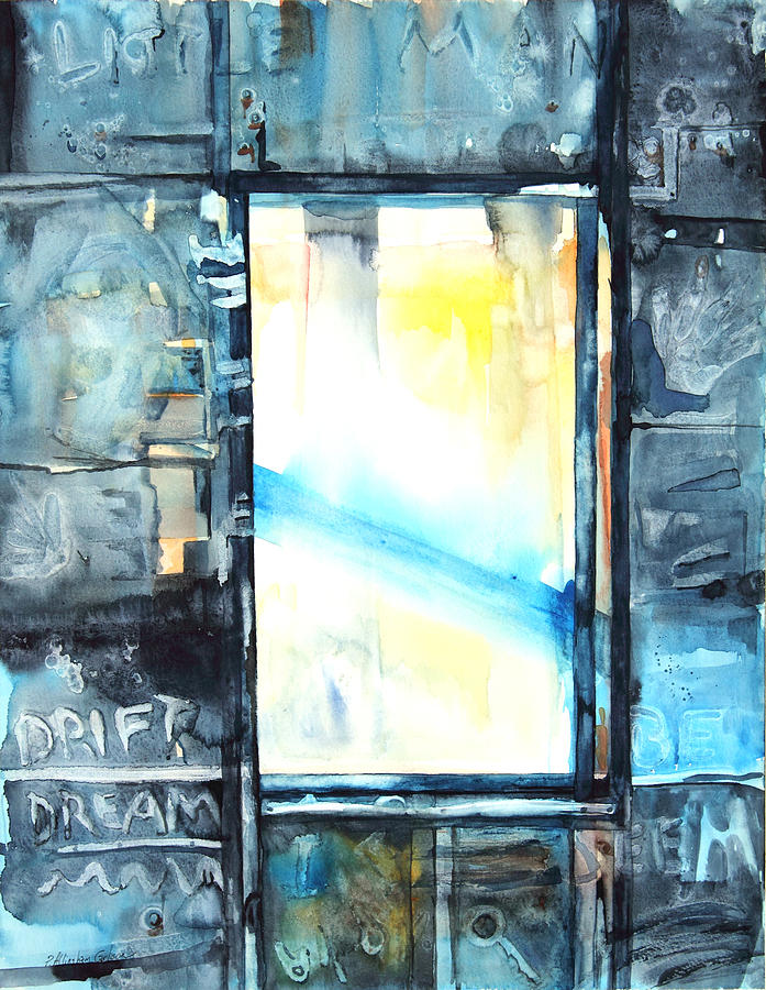 Window Painting - Drift Dream I Was There by Patricia Allingham Carlson