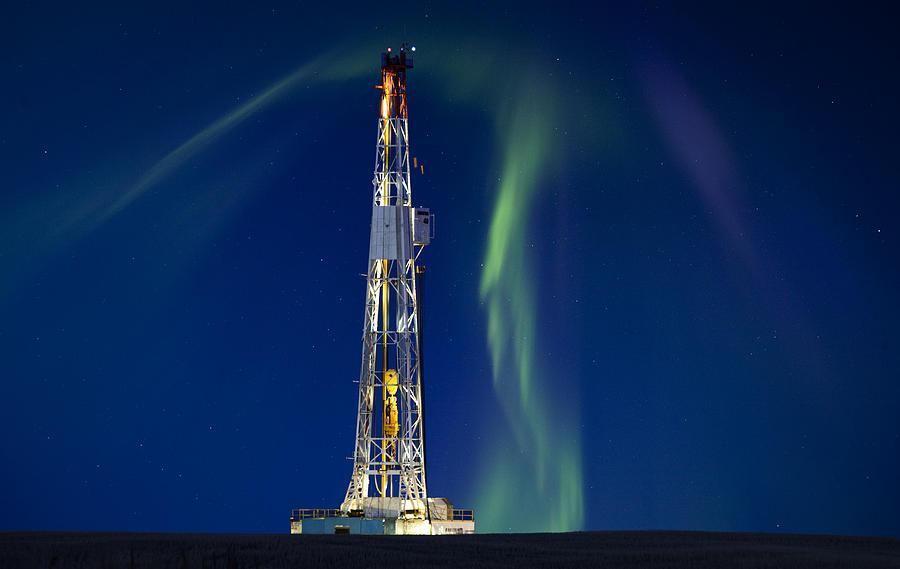 Platform Photograph - Drilling Rig Saskatchewan by Mark Duffy