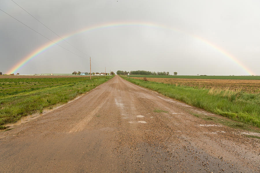 Drive Through A Country Rainbow Photograph
