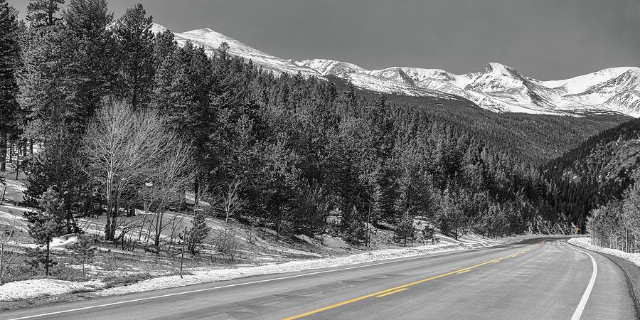 Driving Peak To Peak Panoramic View Photograph