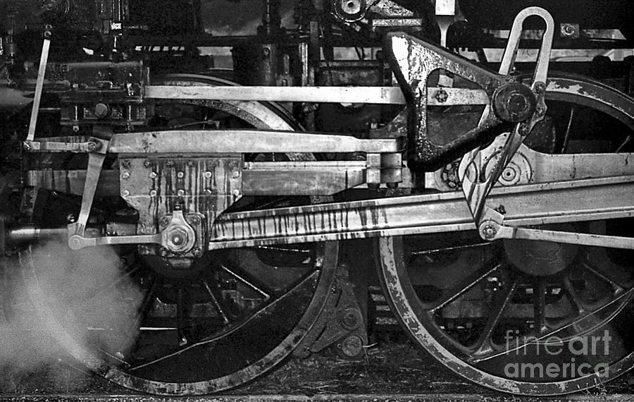 Trains Photograph - Driving Wheels by Richard Rizzo