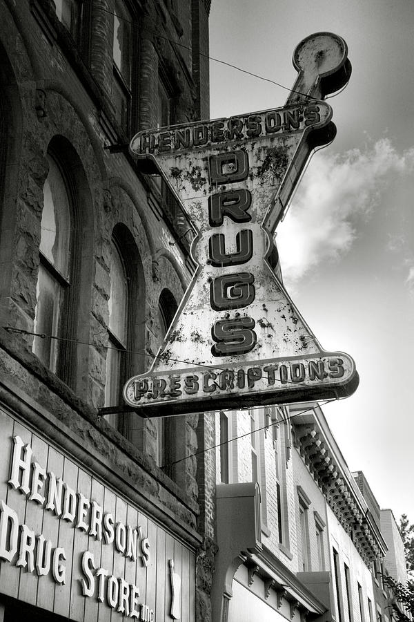 Sign Photograph - Drug Store Sign by Steven Ainsworth