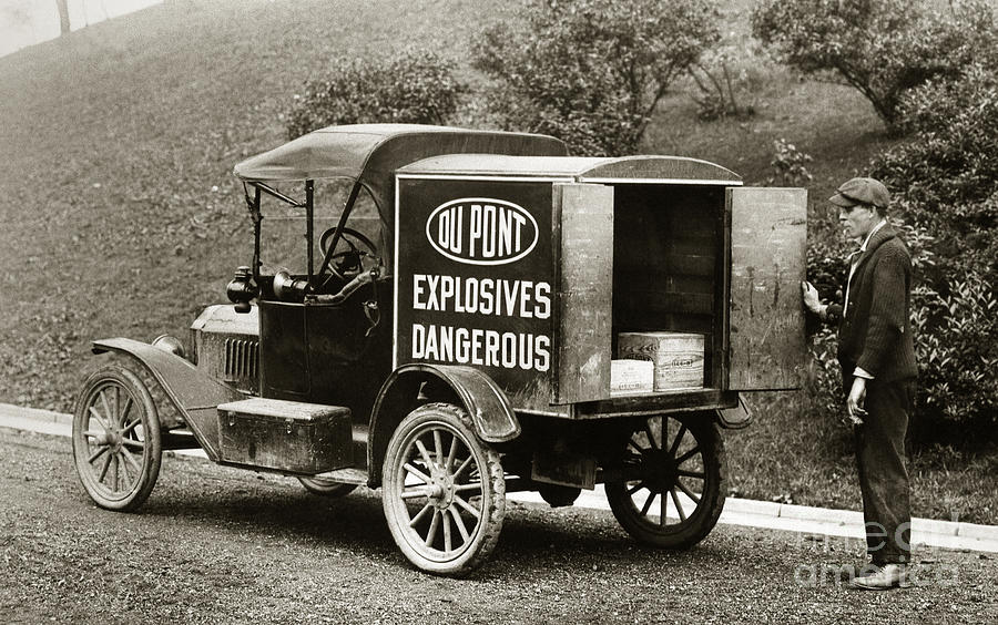 Du Pont Co. Explosives Truck Pennsylvania Coal Fields 1916 Photograph