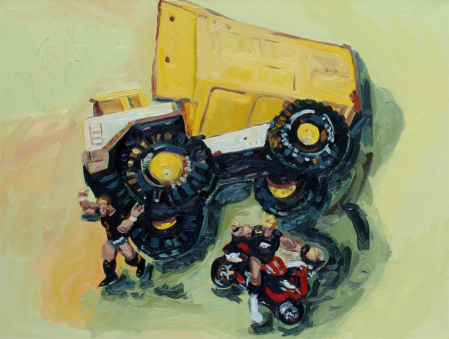 Children Painting - Dump Truck by Eul Hurley