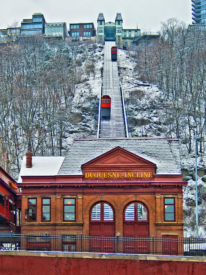 Pittsburgh Photograph - Duquesne Incline by Mark Dottle