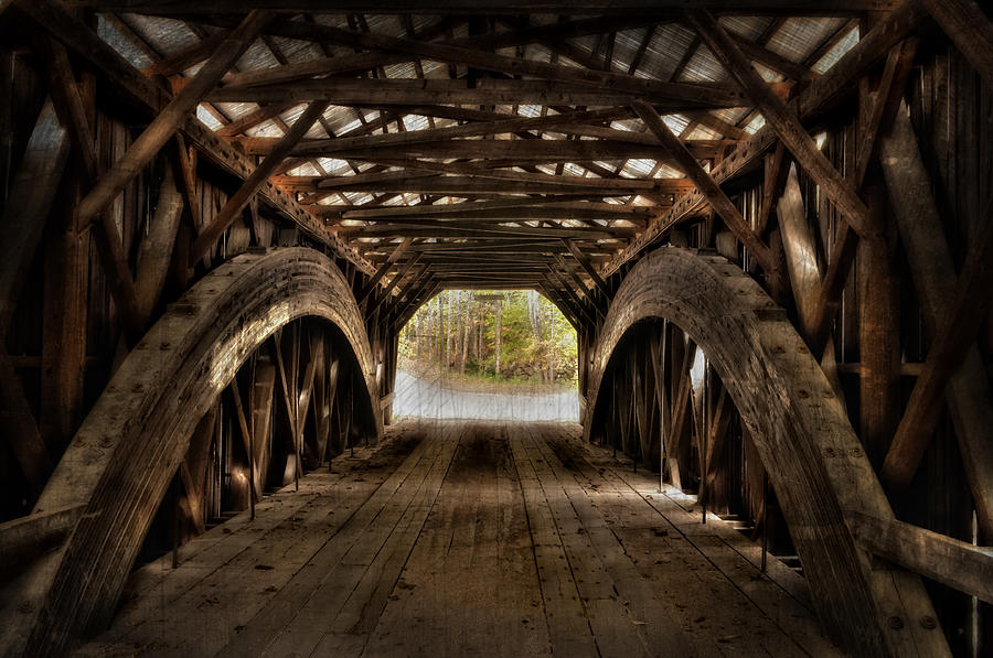 Durgin Covered Bridge - Hdr Photograph