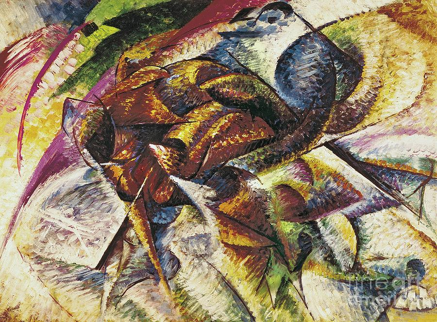 Dynamism Of A Cyclist (dinamismo Di Un Ciclista) 1913 (oil On Canvas) By Umberto Boccioni (1882-1916) Painting - Dynamism Of A Cyclist by Umberto Boccioni