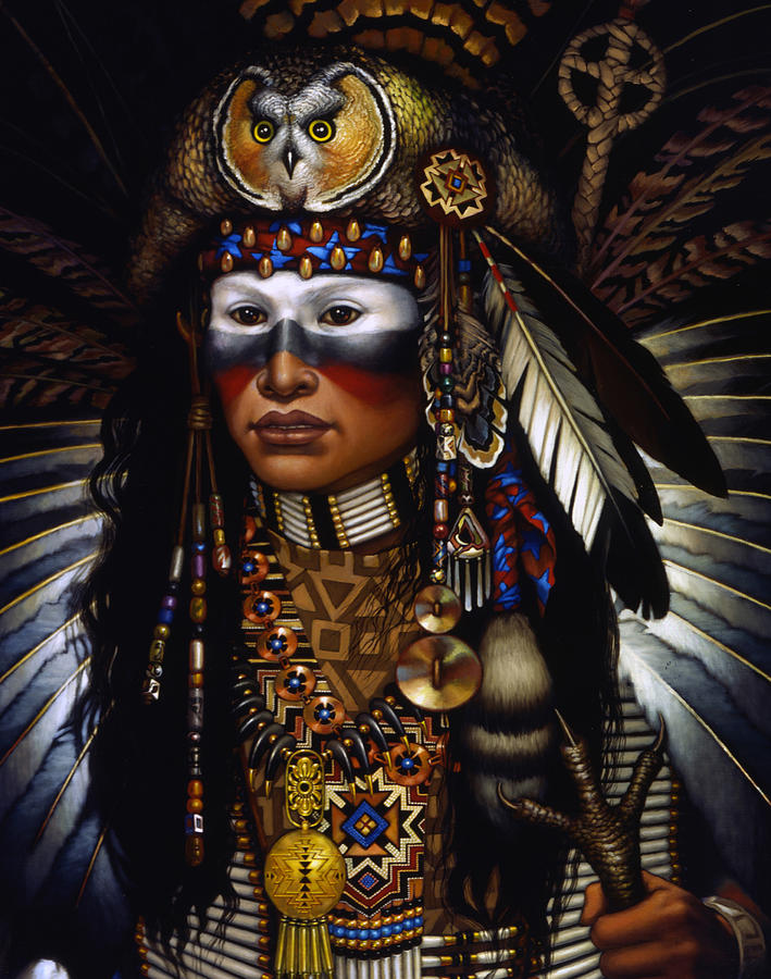 Indian Painting - Eagle Claw by Jane Whiting Chrzanoska