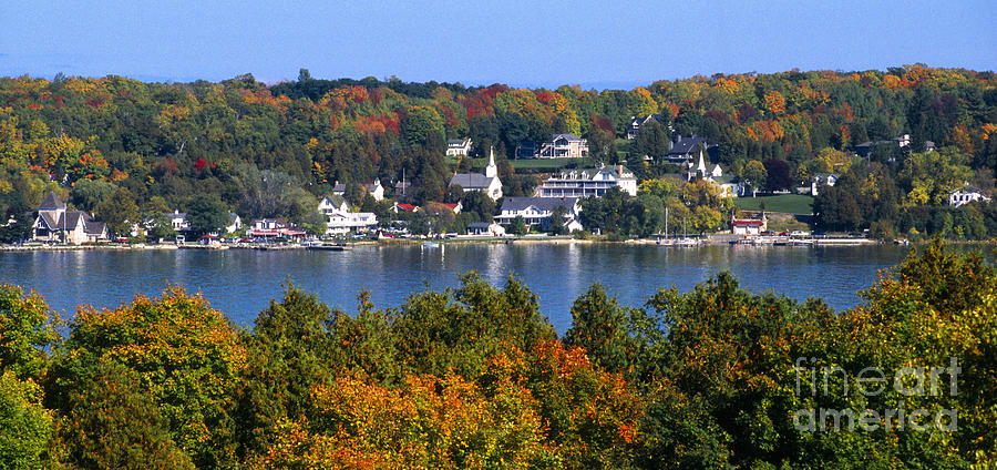 Panoramic Photograph - Eagle Harbor And Ephraim - Door County by Sandra Bronstein