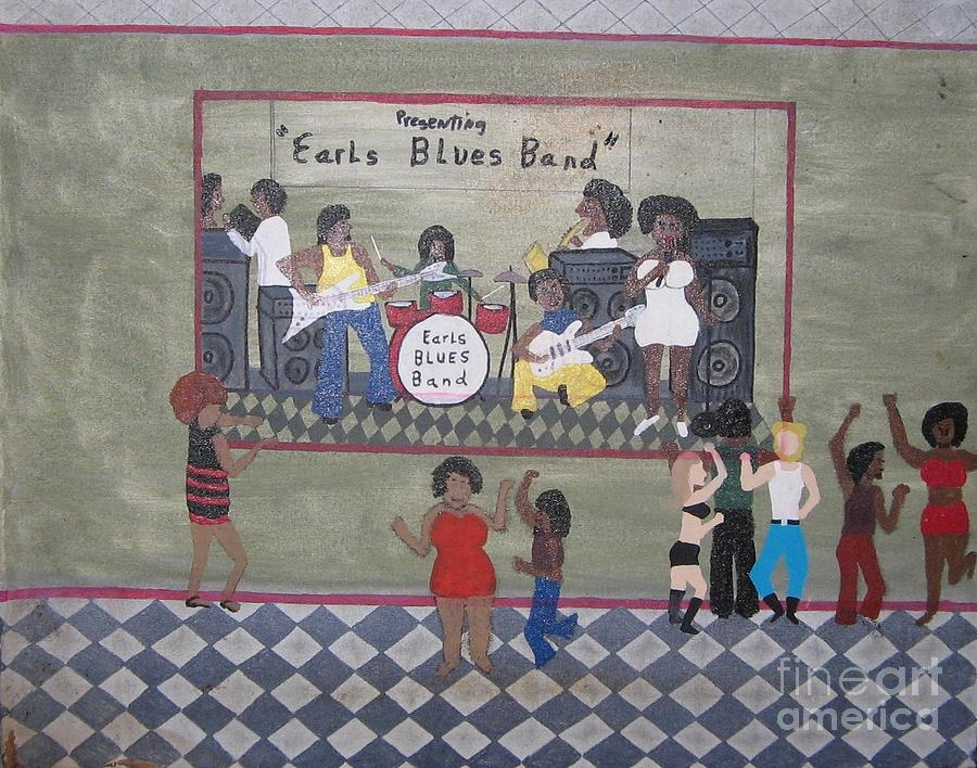 Blues Painting - Earls Blues Band by Gregory Davis