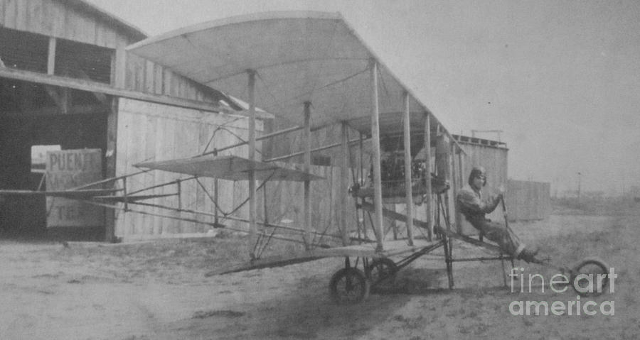 Photograph Of Antique Plane Photograph - Early Aviation by Gwyn Newcombe