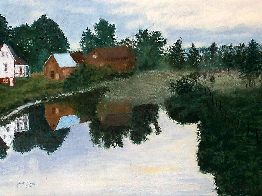 Early Morning Along The Wabash River Painting