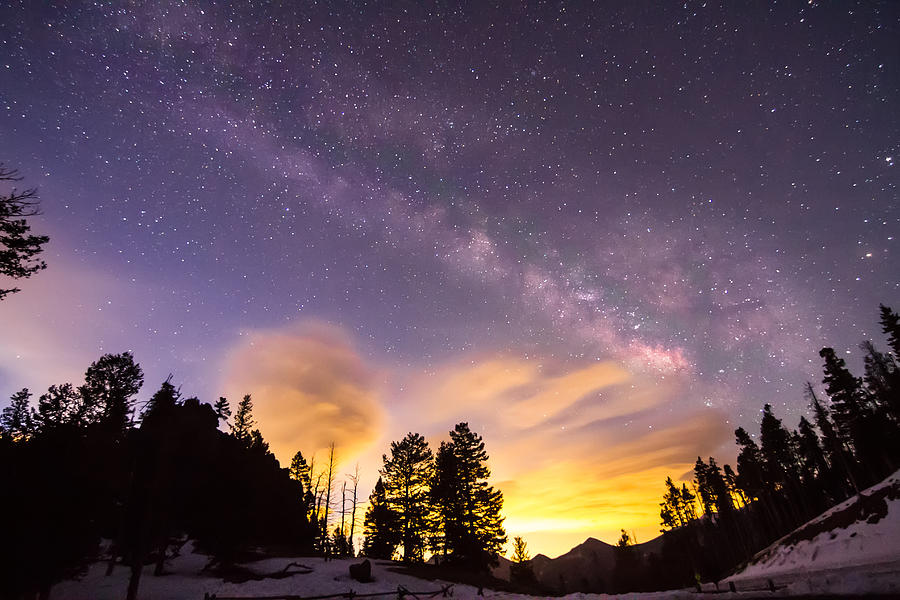 Early Morning Colorful Colorado Milky Way View Photograph