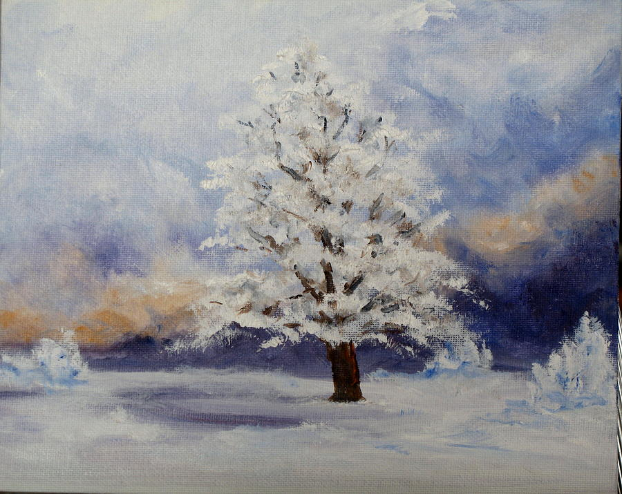 Winter Landscape Painting - Early Snow by Thomas Restifo