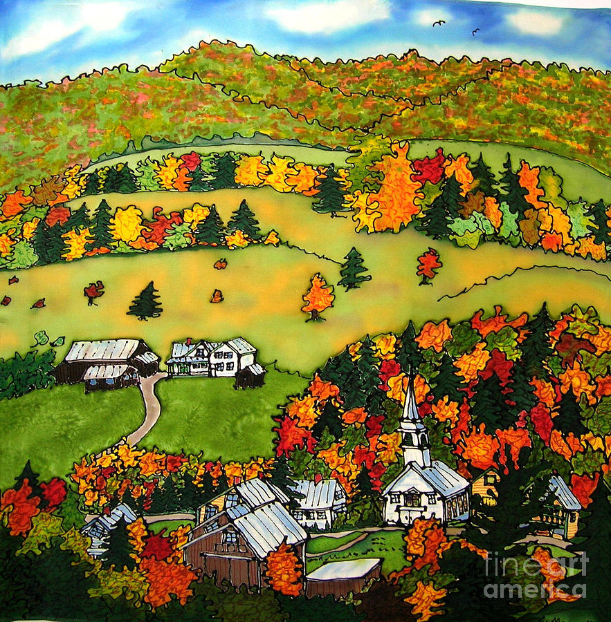 East Corinth Painting - East Corinth Village by Linda Marcille