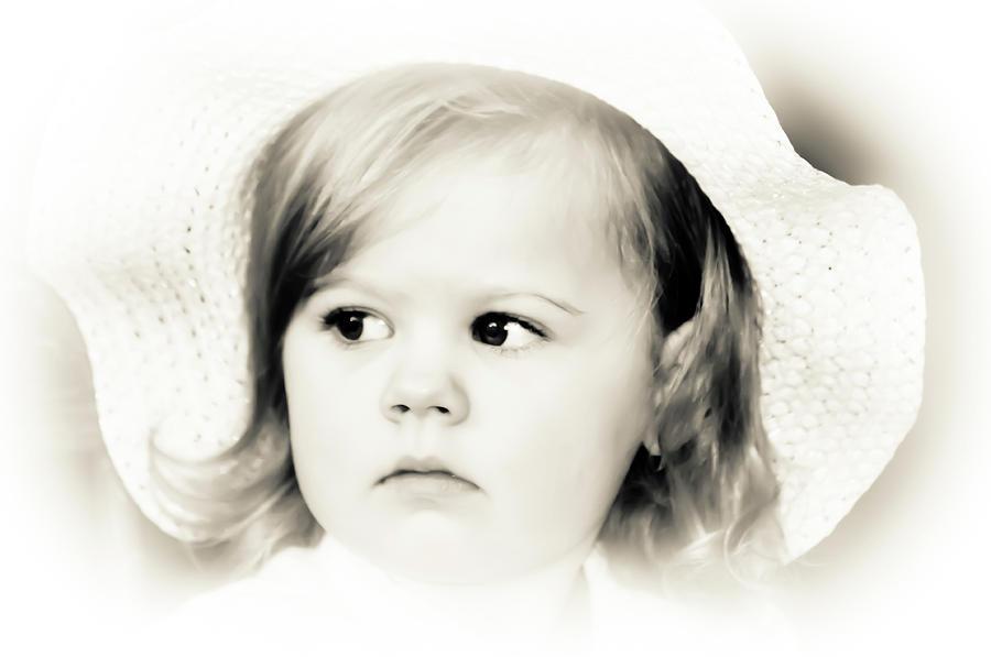 Baby Photograph - Easter Bonnet by Trish Tritz