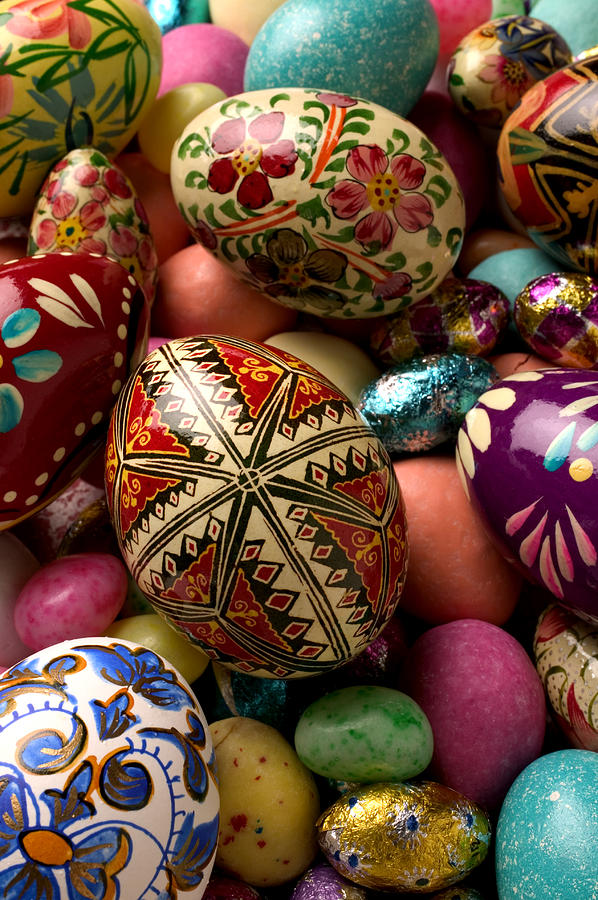 Egg Photograph - Easter Eggs by Garry Gay