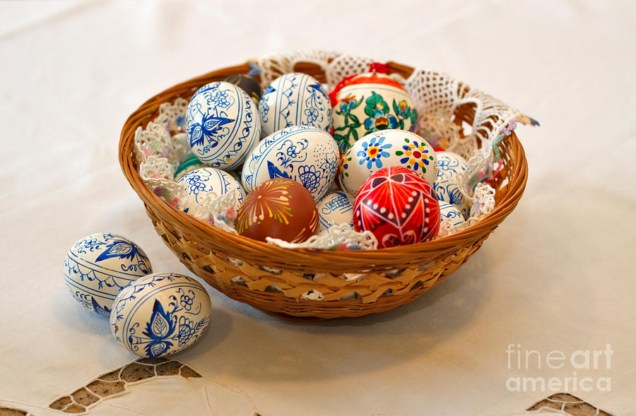 Easter Eggs Photograph - Easter Eggs by Louise Heusinkveld