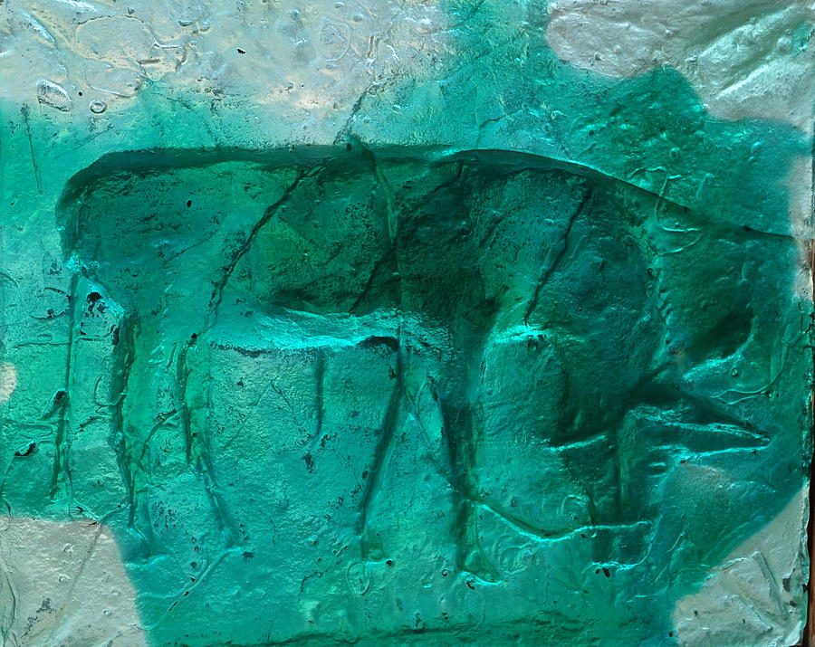 Cast Glass Relief - EAT by Thor Sigstedt