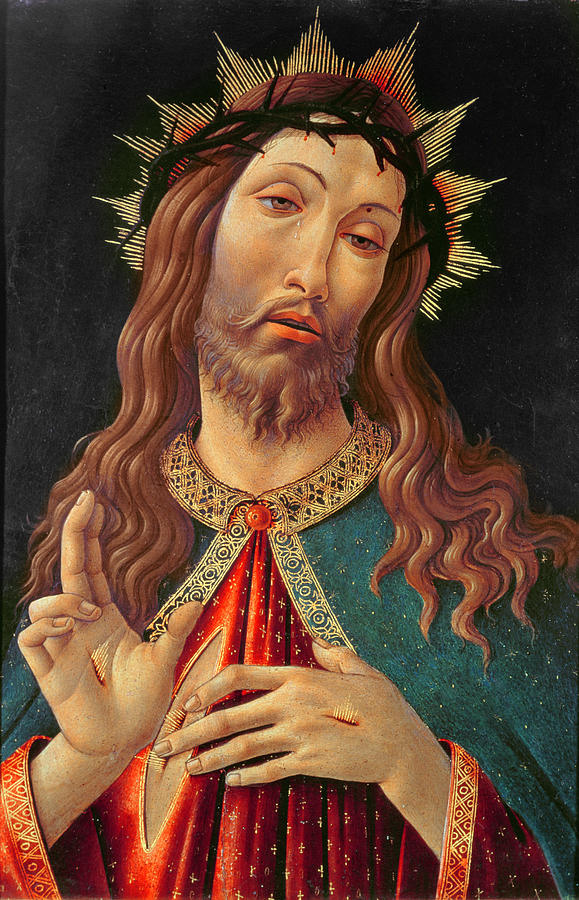 Ecce Painting - Ecce Homo Or The Redeemer by Botticelli