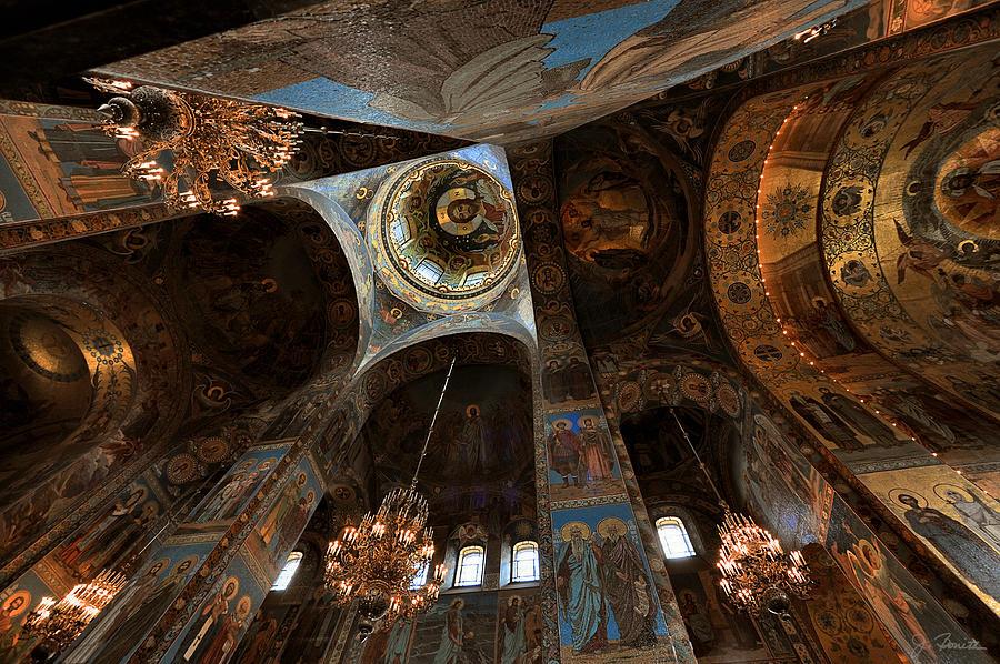 Russia Photograph - Ecclesiastical Ceiling No. 2 by Joe Bonita