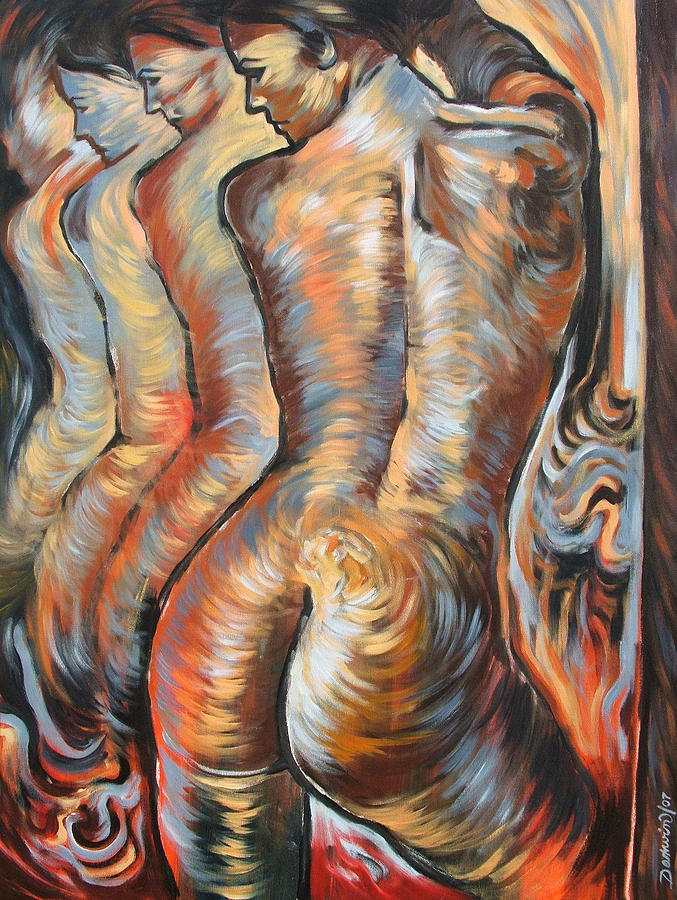 Surrealism Painting - Echo Of A Nude Gesture by Darwin Leon