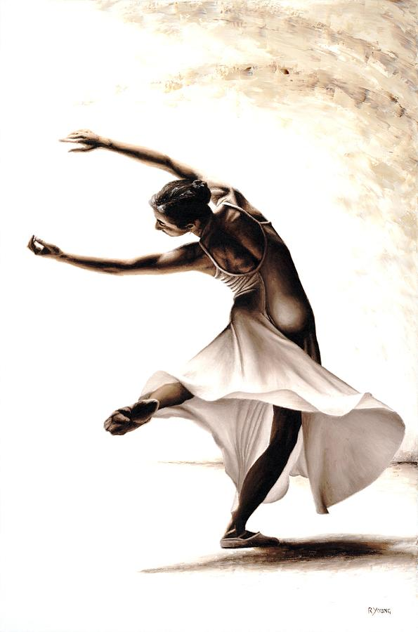 Dancer Painting - Eclectic Dancer by Richard Young
