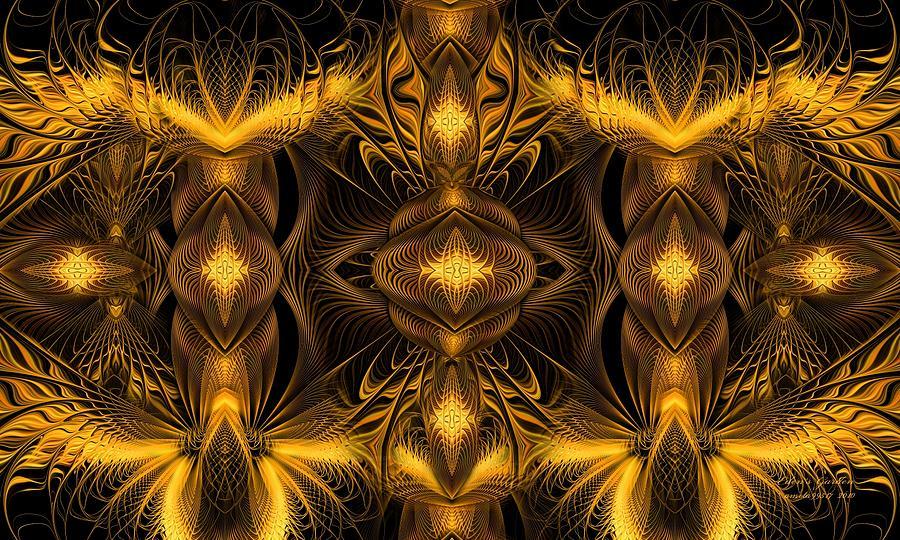 Fractal Digital Art - Eden by Gayle Odsather