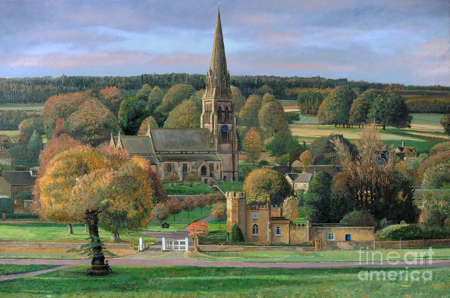 Edensor - Chatsworth Park - Derbyshire Painting