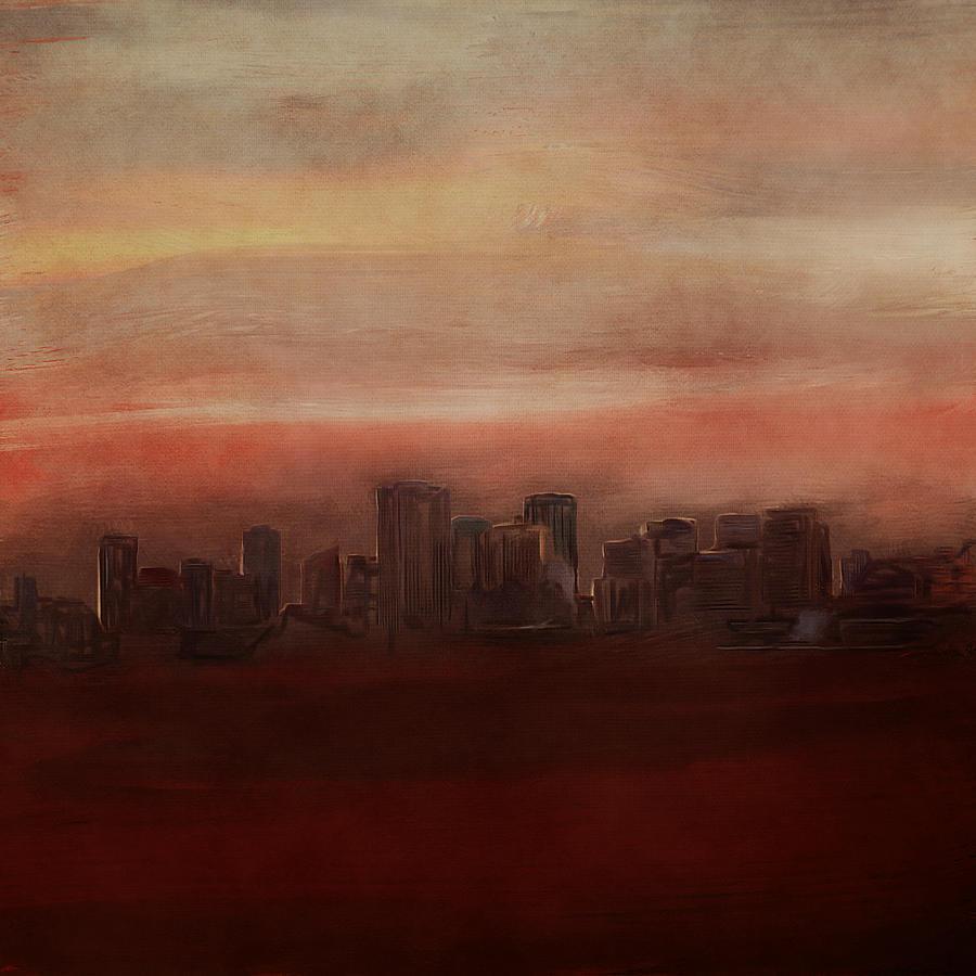 Edmonton At Sunset Digital Art
