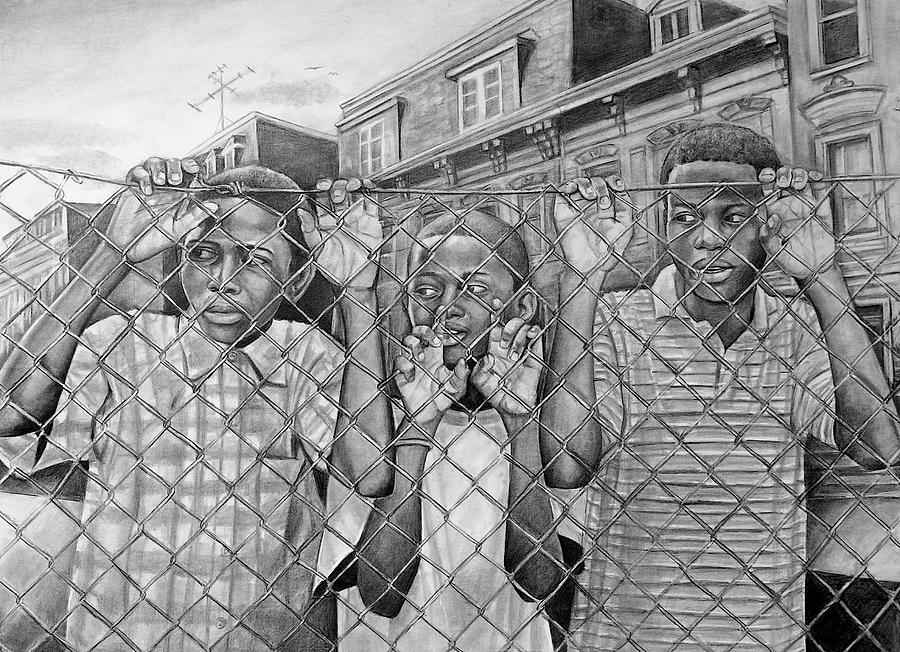 Pencil Drawing - Education Is The Way Out by Curtis James
