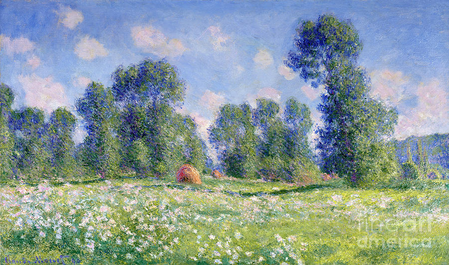 Effect Of Spring Painting - Effect Of Spring At Giverny by Claude Monet