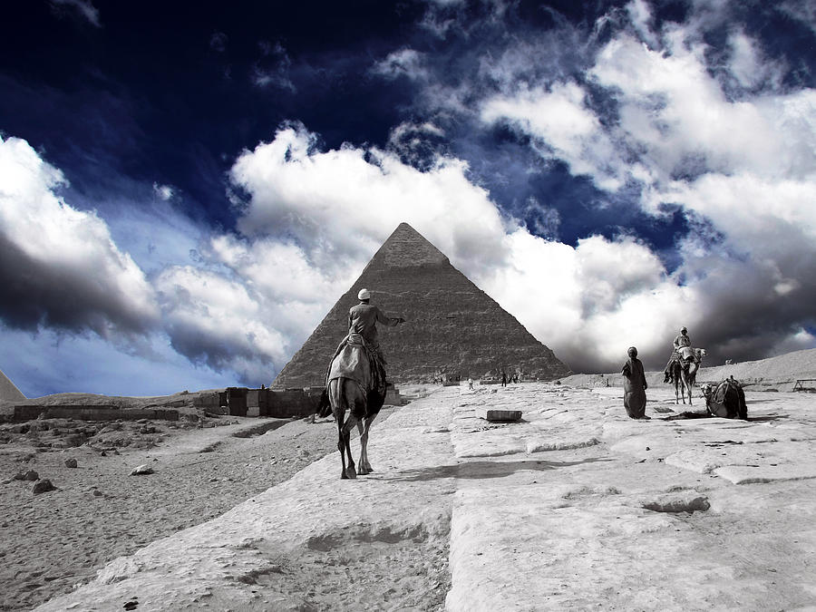 Egypt - Clouds Over Pyramid Photograph