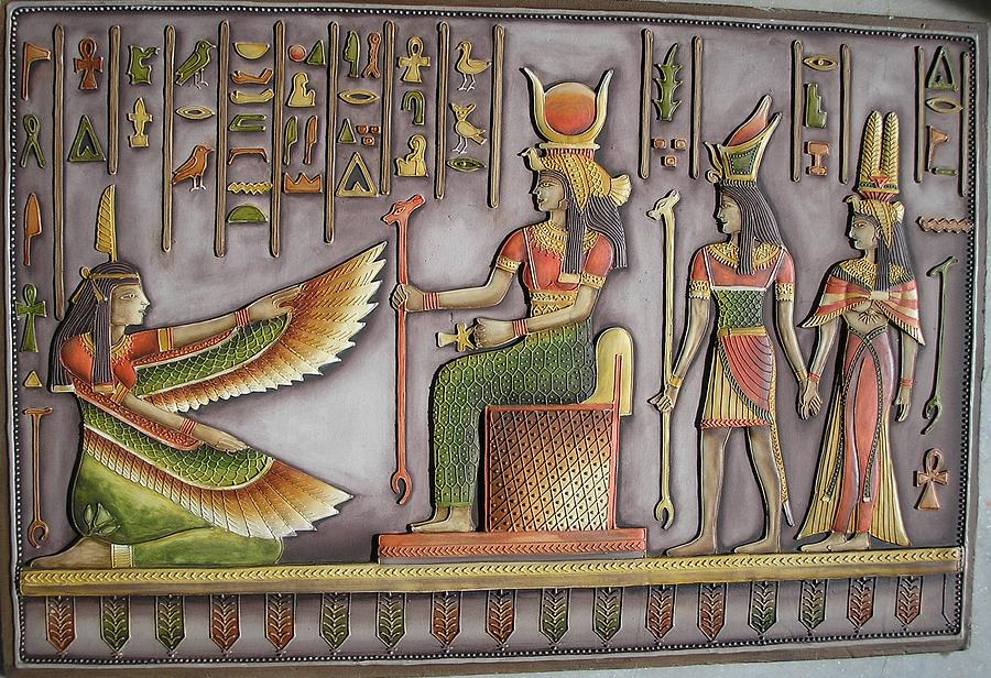 Egyptian painting relief by prity jain for Egyptian fresco mural painting