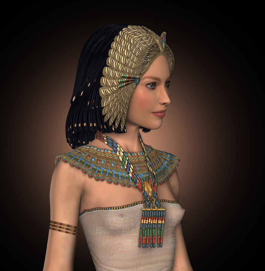 Fantasy Illustration Digital Art - Egyptian Princess by David Griffith